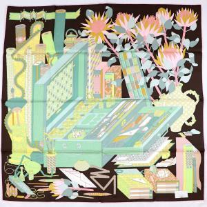 エルメス HERMES 17AW スカーフ カレ90 Les tresors d'un Artiste ある画家の宝物 シルク100% 未使用【Z1-582】|opal-shop1