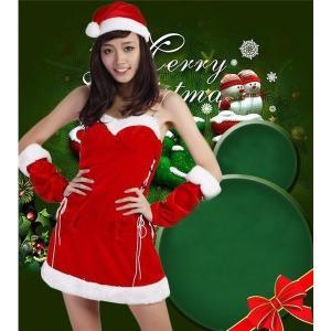 クリスマスサンタ女性レディース仮装コスチューム大人衣装コスプレ可愛いセットアップ open-clothes