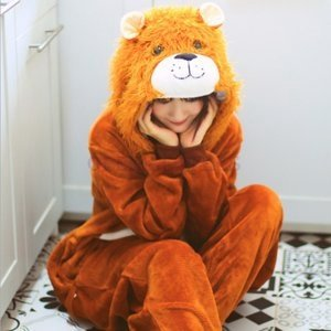 2020冬新作メンズレディースライオンズつなぎ着ぐるみパジャマもこもこ冬用暖かいキッズジュニア大人獅子部屋着ハロウィーン仮装コスプレ変装|open-clothes