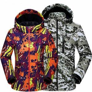 マウンテンパーカーメンズレディースアウトドアペアお揃い迷彩ブルゾン防風保温暖かいバイクウェア登山スキーウェア大きいサイズ2020新作 open-clothes