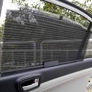 車内ブラインドカーテン車用品日焼け対策ブラックグレーベージュー|open-clothes