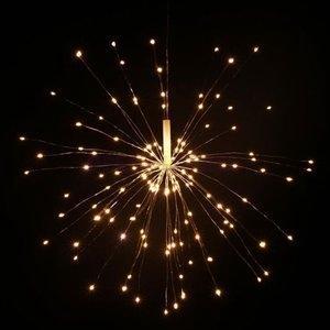 イルミネーションライト防水ストリングライト120個LED電池式花火型ワイヤーライトクリスマスパーティー結婚式誕生日飾りライトリモコン付き|open-clothes