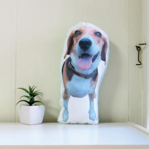 犬 猫 ペット 動物 ビーグル クッション ぬいぐるみ インテリア メモリアル プレゼント オーダーメイド 画像 写真 フワモコ