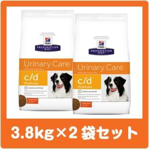 ヒルズ犬用 c/d  3.8kg×2袋セット 療法食 ドッグフード cd (並行輸入品) ※ジッパー付きパッケージ