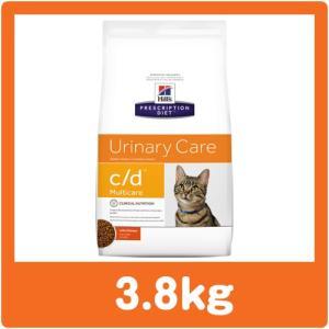 ヒルズ 猫用 c/d 3.8kg 療法食 キャットフード cd (並行輸入品) ※ジッパー付きパッケージ