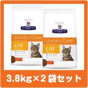 ヒルズ 猫用 c/d 3.8kg×2袋セット cd (並行輸入品) ※ジッパー付きパッケージ