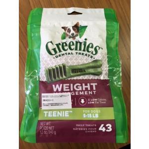 (訳あり)グリニーズ ティーニーウェイトマネージメント(約43本入)1袋 greenies (並行輸...