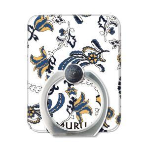 スマホリング スマートフォン リング ホールドリング スタンド MURUA(ムルーア)×Gizmobies/PAISLEY FLOWER お取り寄せ|option