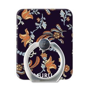 スマホリング スマートフォン リング ホールドリング スタンド MURUA(ムルーア)×Gizmobies/PAISLEY FLOWER NVY お取り寄せ|option