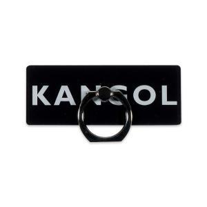 スマホリング スマートフォンリング KANGOL カンゴール Gizmobies BOX LOGO RING BLK お取り寄せ|option