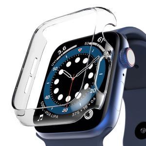 araree Apple Watch ケース 44mm / 40mm SE / Series 6 / 5 / 4 対応 アップルウォッチ カバー クリア 薄型1mm ハードクリアケース Nu:kin お取り寄せ|option