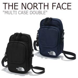 ノースフェイス ミニバッグ THE NORTH FACE メンズ レディース MULTI CASE DOUBLE マルチ ケース ダブル BLACK NAVY ブラック ネイビー NN2PK10A/B バッグ option