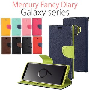 GALAXY S9 ケース 手帳型 Galaxy S8 ケース Galaxy S9+ ケース Galaxy S8+ Mercury Fancy ダイアリー 耐衝撃|option