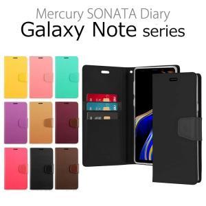 GALAXY Note9 ケース Galaxy Note8 ケース 手帳型 SC-01L SCV40 SC-01K SCV37 耐衝撃 MERCURY SONATA DIARY スマホケース|option