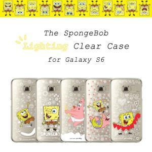 お取り寄せ Galaxy S6 ケース The SpongeBob Lighting Clear Case Galaxy S6 スポンジ・ボブケース ピカピカ光る|option