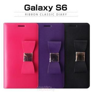 お取り寄せ Galaxy s6 SC 05G ケース LAYBLOCK Ribbon Classic Diary レイブロック リボンクラシックダイアリー ケース|option