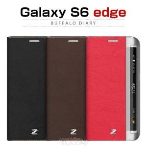 お取り寄せ Galaxy S6 edge ケース Zenus Buffalo Diary ゼヌス バッファローダイアリー 手帳型 ケース カバー|option
