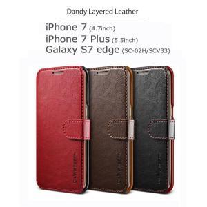 お取り寄せ iPhone8 ケース iPhone7 カバー iPhone8 Plus スマホケース iPhone7 Plus Galaxy S7 edge ケース カバー Dandy Layered Leather|option