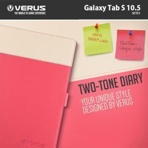 Galaxy Tab S 10.5 ケース カバー  VERUS ツートンクレヨンダイアリーレザーケース カバー  Galaxy Tab S SCT21|option