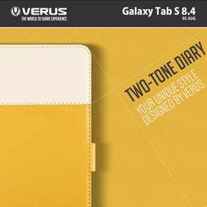galaxy tab s 8.4 ケース カバー verus ツートンダイアリー for GALAXY Tab S 8.4 SC 03G スマホケース|option