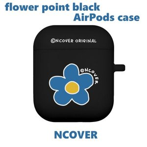 AirPods ケース airpods カバー エアポッズ NCOVER エヌカバー 韓国 flower point black AirPods case お取り寄せ|option