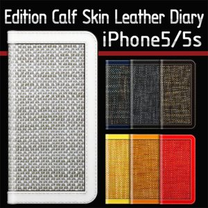 iPhone5s スマホケース SLG Design D5 Edition Calf Skin Leather Diary カーフスキンレザーダイアリー iPhone 5 iPhone 5s ケース|option