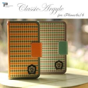 iPhone6s ケース T-POCKET クラシック アーガイル ダイアリー 手帳型 スマホケース カバー|option