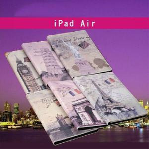 iPad Air ケース カバー アンティーク 欧米絵画風 スタンドカバー ケース|option