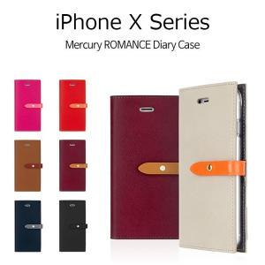 iPhone XS ケース iPhone XS Max ケース iPhone X ケース iPhoneXR ケース 手帳型 MERCURY ROMANCE DIARY 耐衝撃|option