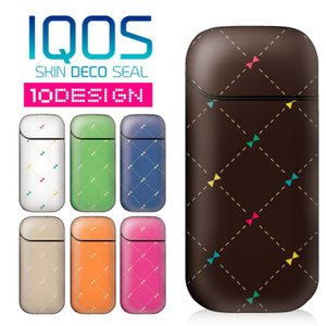 キルティング iQOS シール アイコス ステッカー iqosデコシール 両面 保護フィルム 電子タバコ ケース レザーケース や カバー の変わりに|option