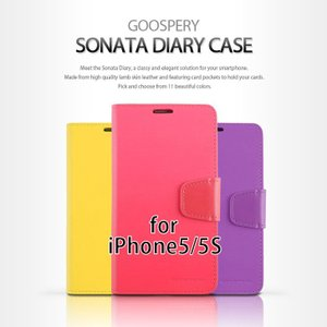 iPhone SE ケース iPhone5s iPhone5  スマホケース mercury GOOSPERY SONATA DIARY CASE 手帳型 レザーケース iPhone5 5S ケース カバー|option
