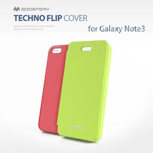 galaxy note3 スマホケース mercury GOOSPERY Techno Flip cover 手帳型 レザーケース   GALAXY Note 3 SC 01F SCL22 ケース カバー|option