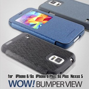 iPhone 6 iPhone 6s iPhone 6 Plus iPhone 6s Plus Nexus 5 ケース mercury GOOSPERY WOW! BUMPER VIEW 手帳型 レザー ケース カバー スマホケース|option