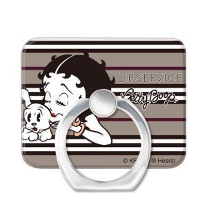 スマホリング スマートフォンリング LIP SERVICE リップサービス Betty Boop ベティー ブープ AntiqueBeige_BETTY お取り寄せ|option