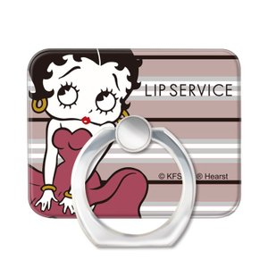 スマホリング スマートフォンリング LIP SERVICE リップサービス Betty Boop ベティー ブープ AntiquePink_BETTY お取り寄せ|option