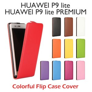 HUAWEI P9 lite PREMIUM HUAWEI P9 lite ケース カラフルフリップ縦開きPUレザーケースカバー|option