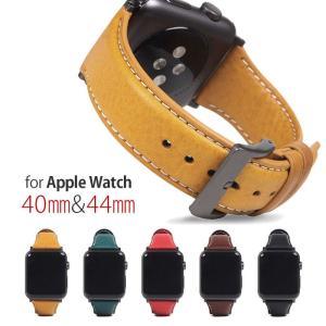 SLG Design Apple Watch バンド 44mm 40mm用 本革 ブラック アップルウォッチバンド 交換ベルト series 5/4/3/2/1 42mm 38mm お取り寄せ|option