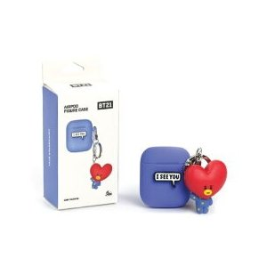 BT21 Airpods Case フィギュアキーホルダー付き シリコン ケース BT21 エアーポッズ airpods カバー Apple AirPods2 ワイヤレス 公式商品 お取り寄せ option