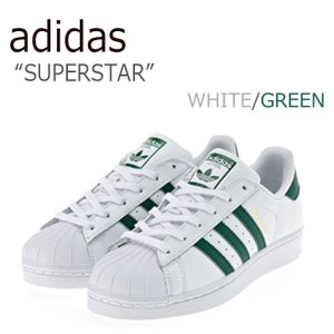レディース スニーカー メンズ アディダス adidas  SUPERSTAR WHITE GREE...