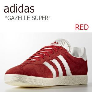 adidas GAZELLE SUPER RED VINTAGE WHITE GOLD MET アデ...