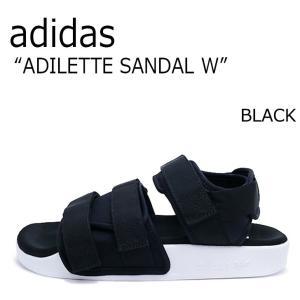 アディダス サンダル ADIDAS メンズ レディース ADILETTE SANDAL アディレッタ スポーツサンダル BLACK ブラック S75382 シューズ...