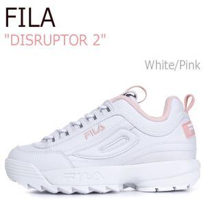 フィラ スニーカー FILA レディース DISRUPTOR 2 ディスラプター2 White Pi...