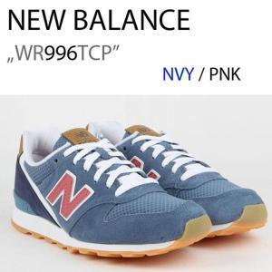 ニューバランス 996 スニーカー New Balance レディース Blue Pink ブルー ピンク WR996TCP シューズ|option