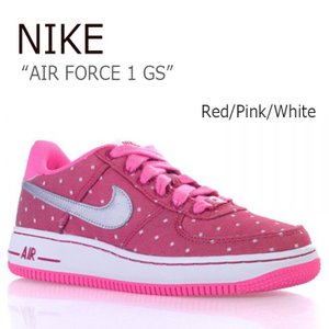 NIKE AIR FORCE 1 GS Red Pink W...