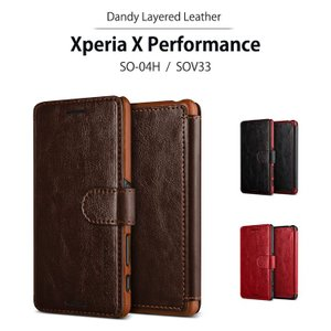 お取り寄せ Xperia X Performance 手帳型 ケース VERUS Dandy Layered Leather  スマホケース カバー Xperia X Performance SO-04H SOV33|option