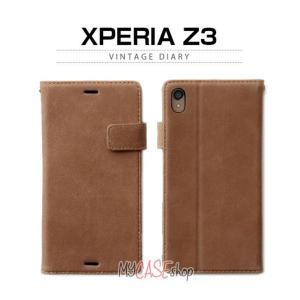 お取り寄せ xperia z3 ケース カバー ZENUS Vintage Diary ビンテージダイアリー 手帳型 レザーケース スマホケース|option