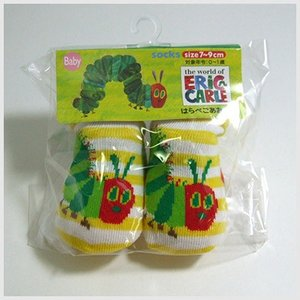 3点999円税抜|はらぺこあおむし ベビーソックス (黄色ボーダー) 靴下|or-box