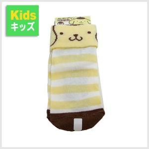 3点999円税抜|ポムポムプリン キッズ折り返しソックス(ボーダー)|子供用|靴下|or-box
