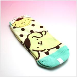 3点999円税抜|ポムポムプリン ソックス(ポルカドット緑)|レディース靴下|or-box