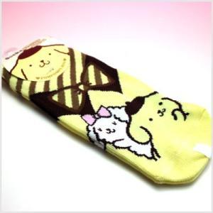 3点999円税抜|ポムポムプリン ソックス(襟付き風黄色)|or-box